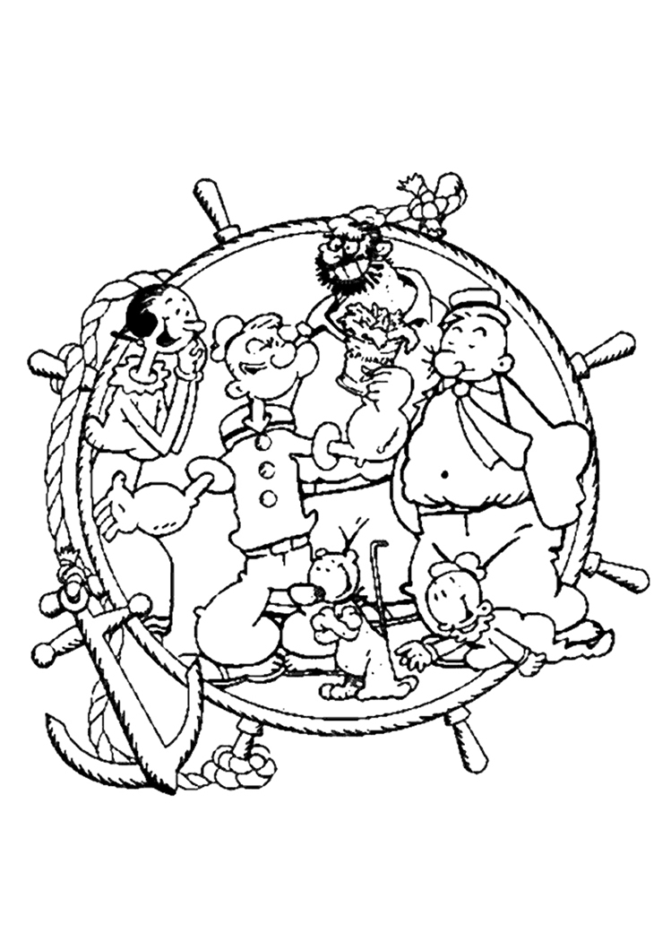 the popeye coloring pages