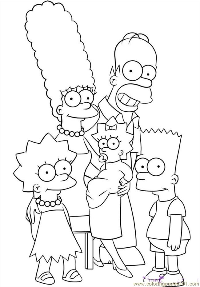 the simpsons coloring pages 01