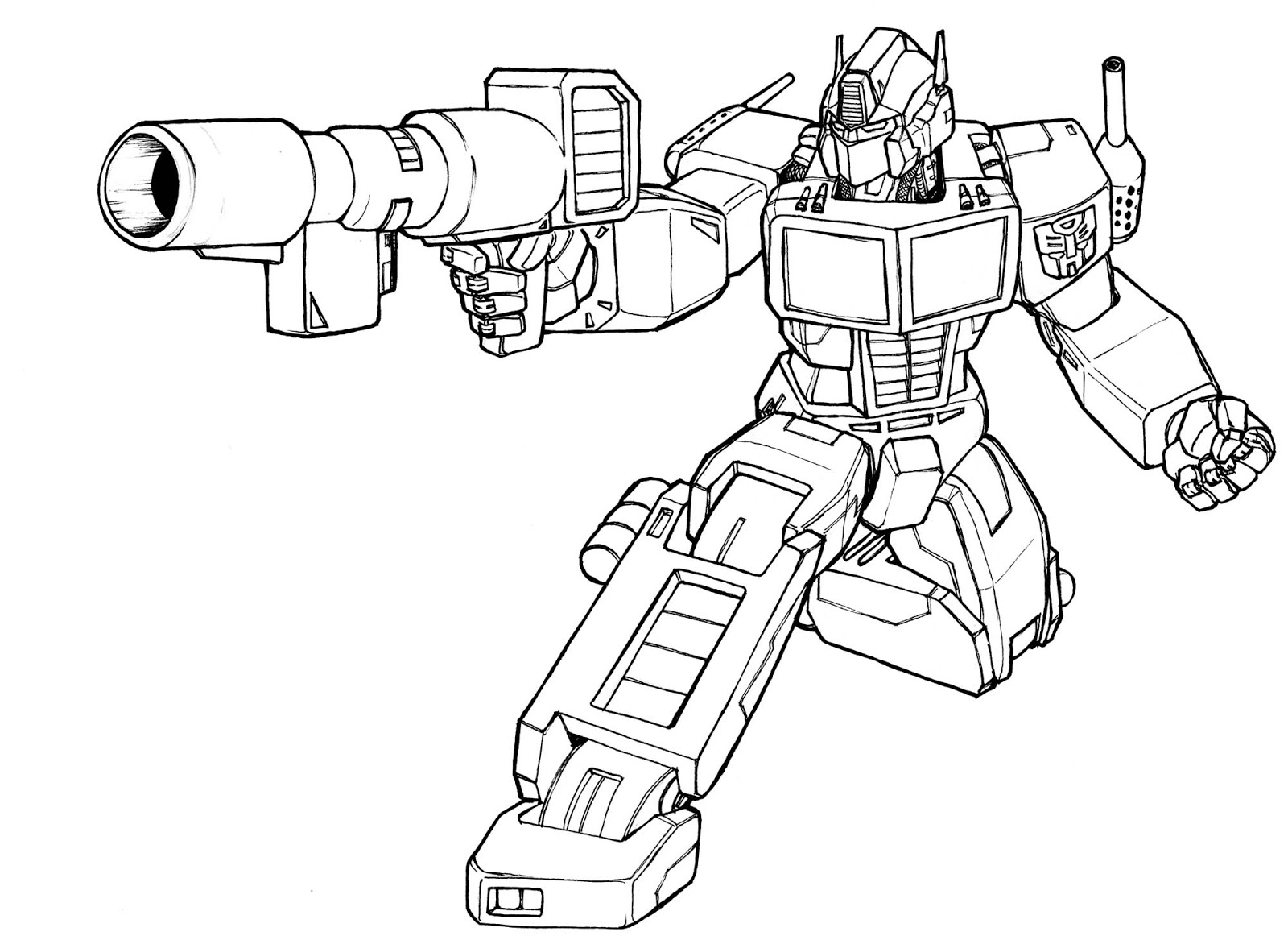 Transformers Coloring Sheets 07