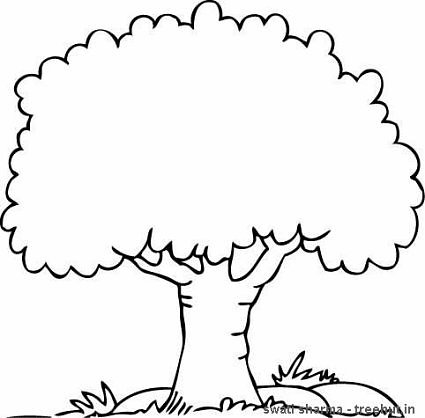 tree coloring pages 01
