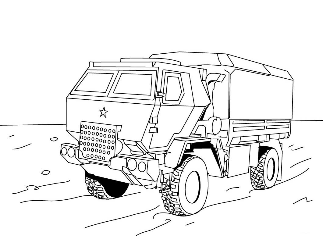 Truck Coloring Pages Free 02