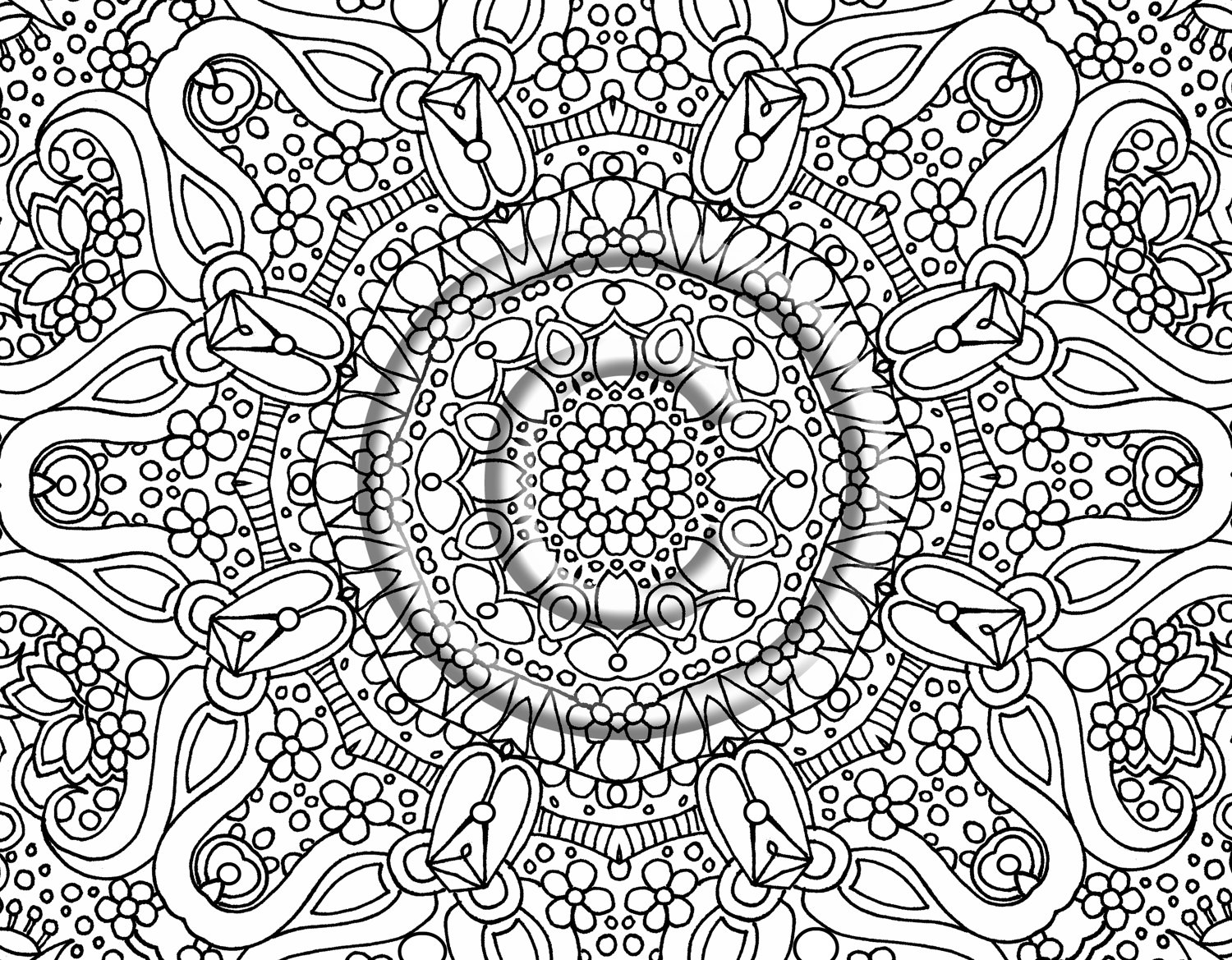 Adult Coloring Page 03
