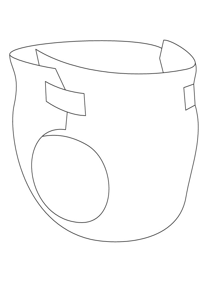 baby diaper coloring pages