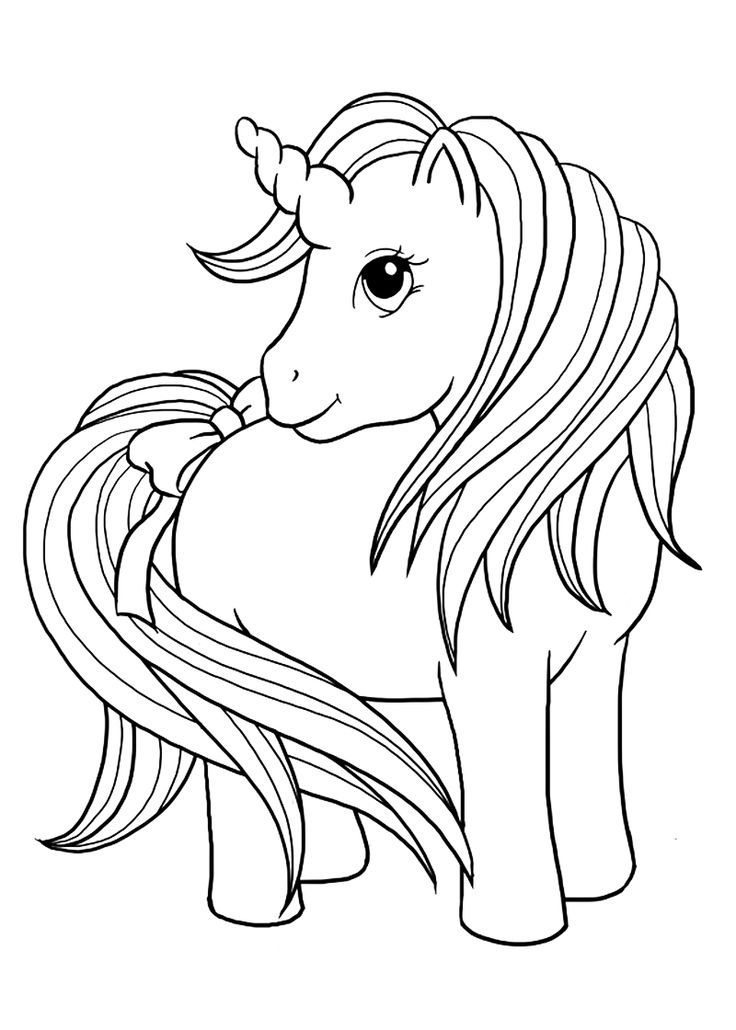 Cute Baby Unicorn Coloring Pages for Toddlers 9981489124