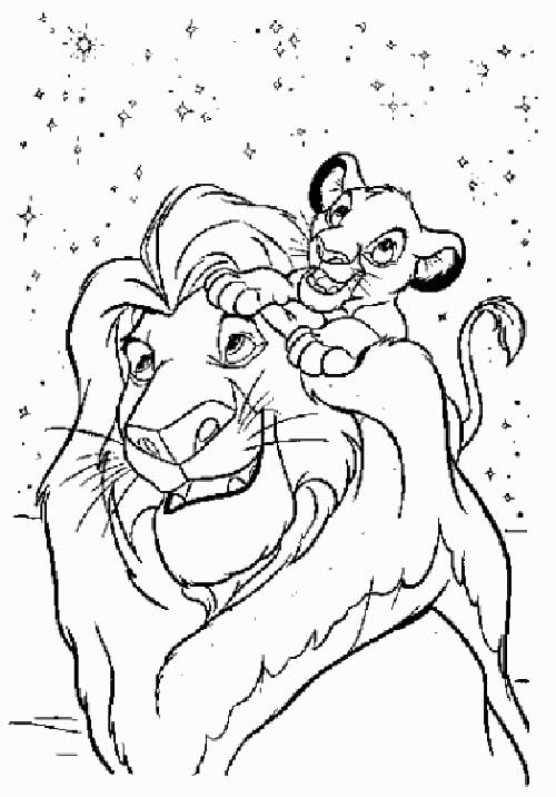 Disney lion king coloring pages only coloring pages for Disney lion king coloring pages