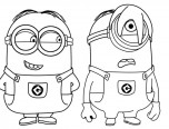 disney minions coloring page