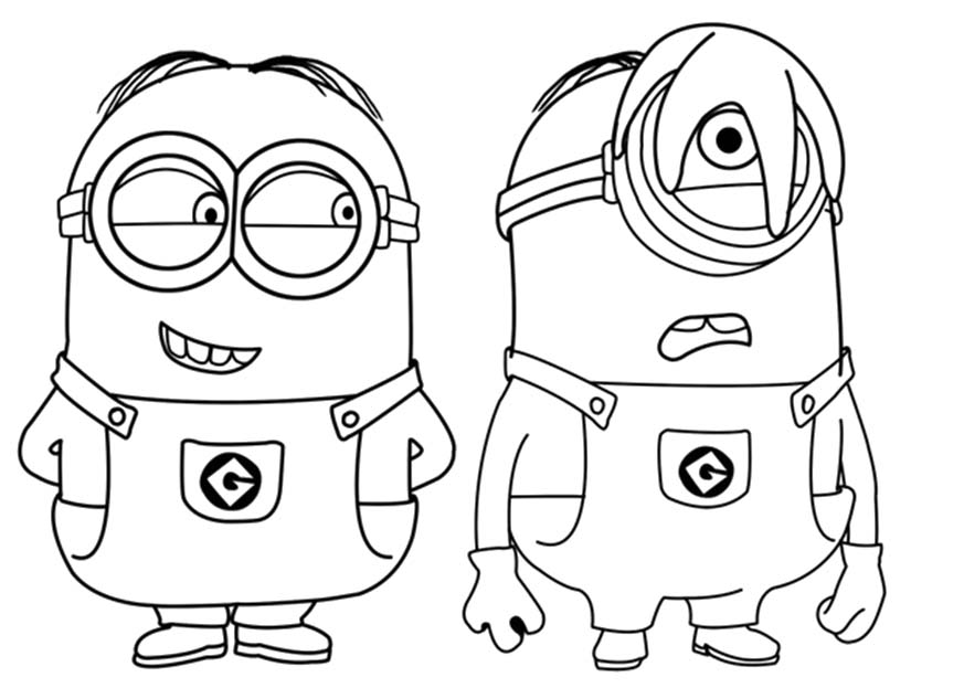Disney Minions Coloring Page 01