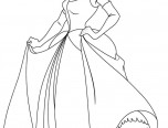 disney princess cindirella coloring page