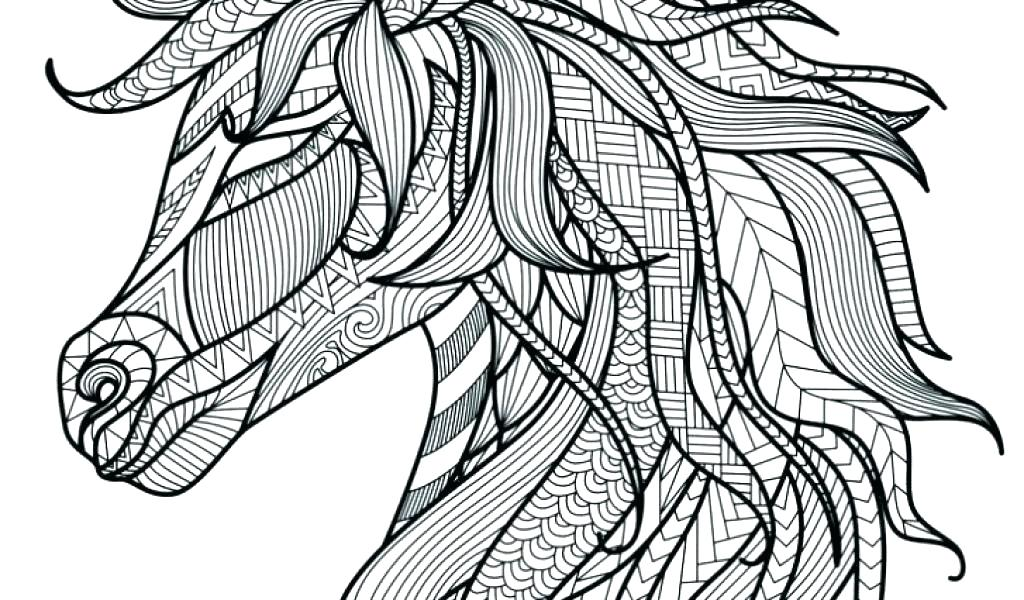 Geometric Unicorn Head Coloring Pages for Toddlers