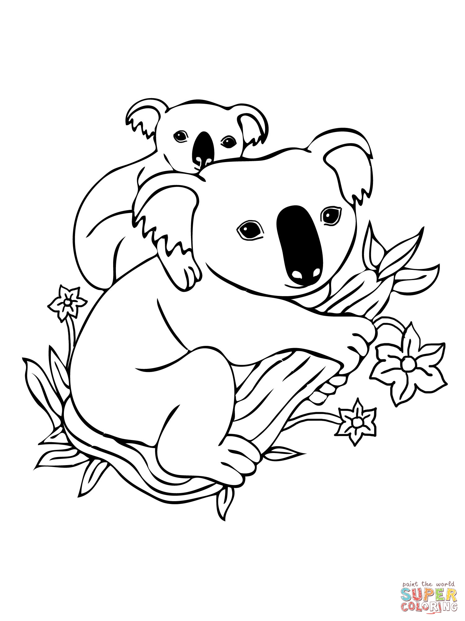 koala coloring pages 03