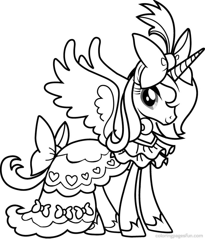 pony coloring pages free