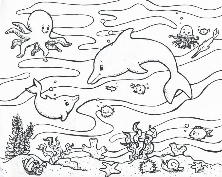 Printable Ocean Coloring Page Only Coloring Pages