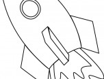 rocket ship coloring sheet