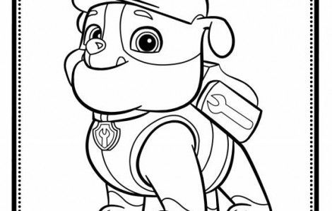 Rubble Paw Patrol Coloring Page 02