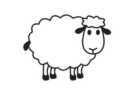 Sheep coloring page only coloring pages for Sheep coloring page