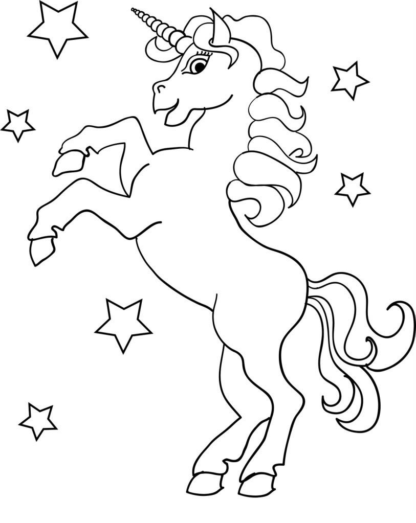 Simple Unicorn Drawing for Beginners 01492483492