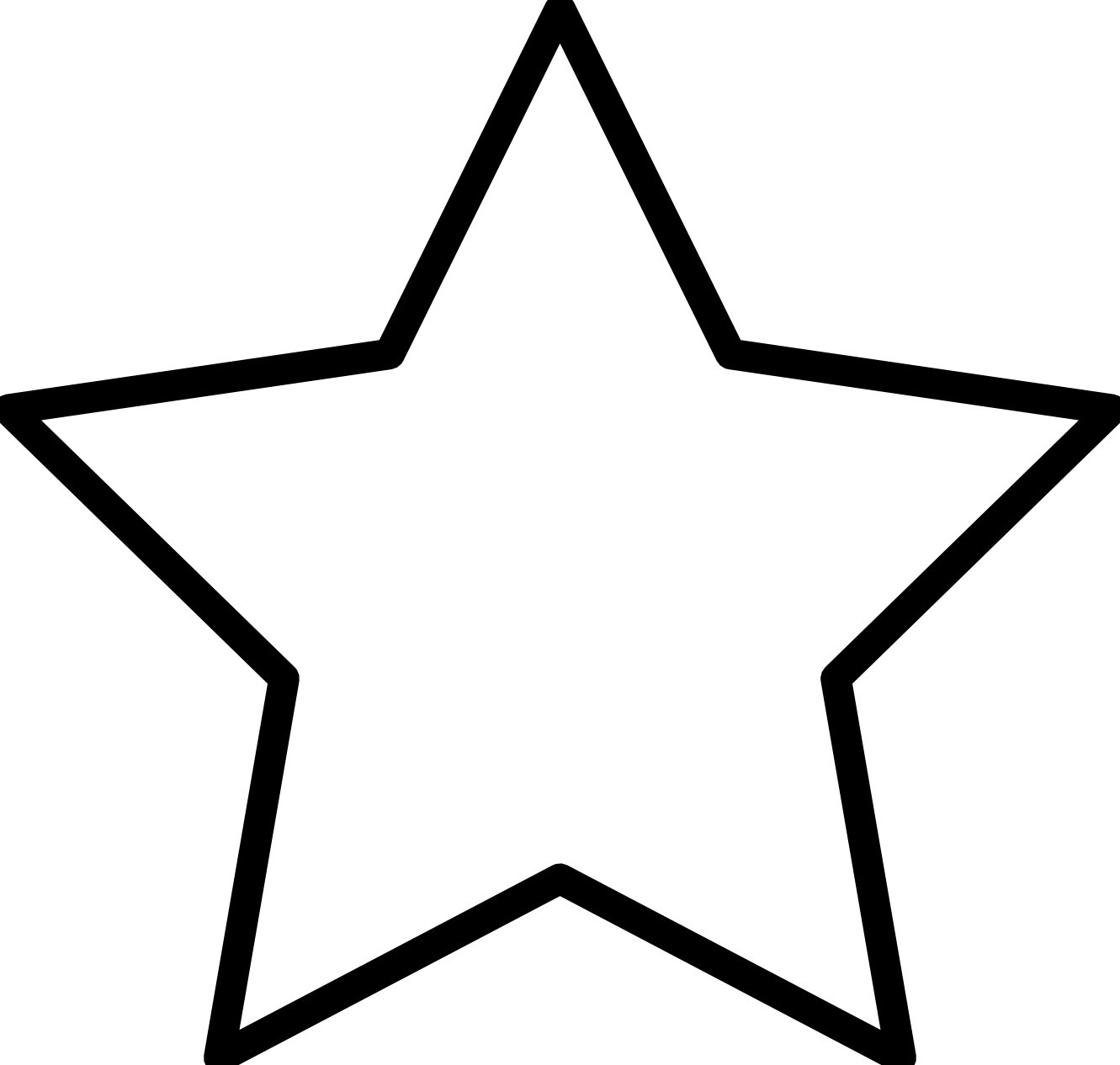 star coloring page 01