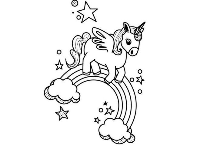 Sweet Unicorn Coloring Pages for Teenagers 71389432984
