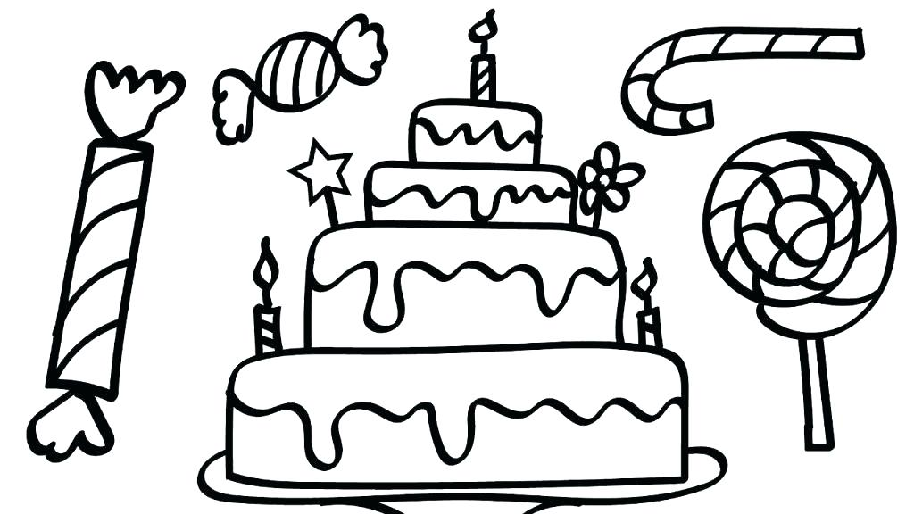 Unicorn Cake Coloring Pages 8841924914