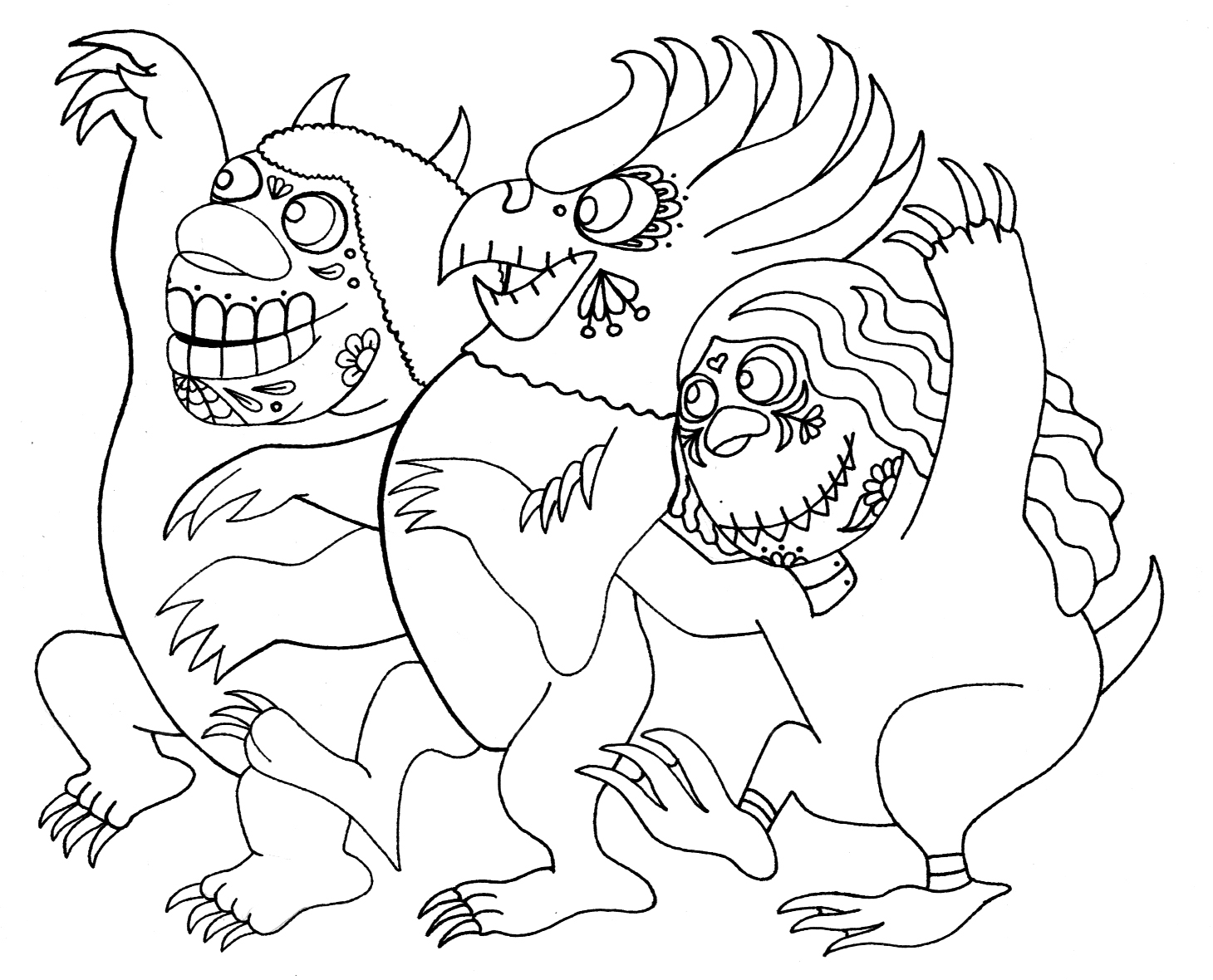 wild things coloring pages 02