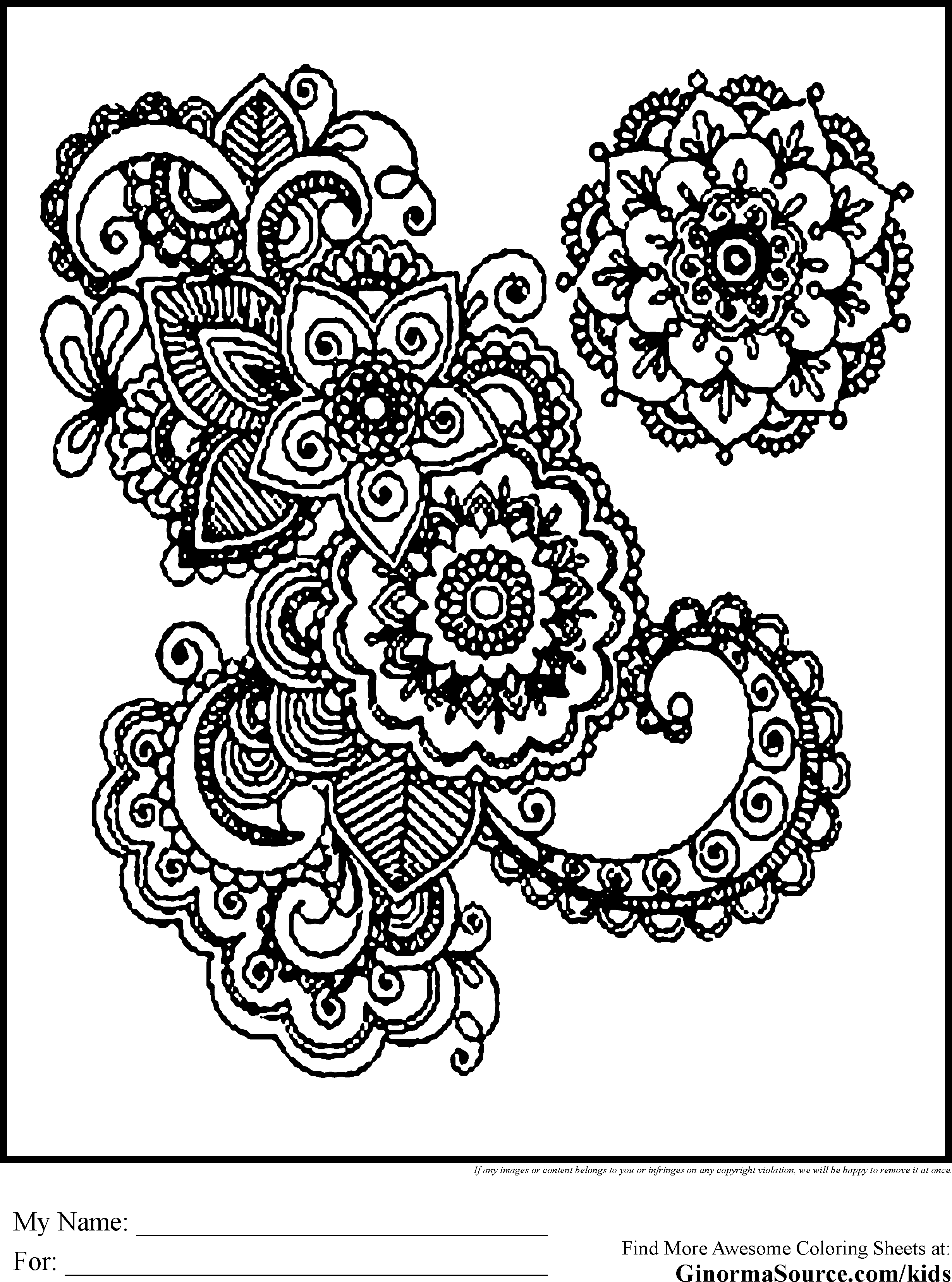 Advanced Coloring Pages For Kids