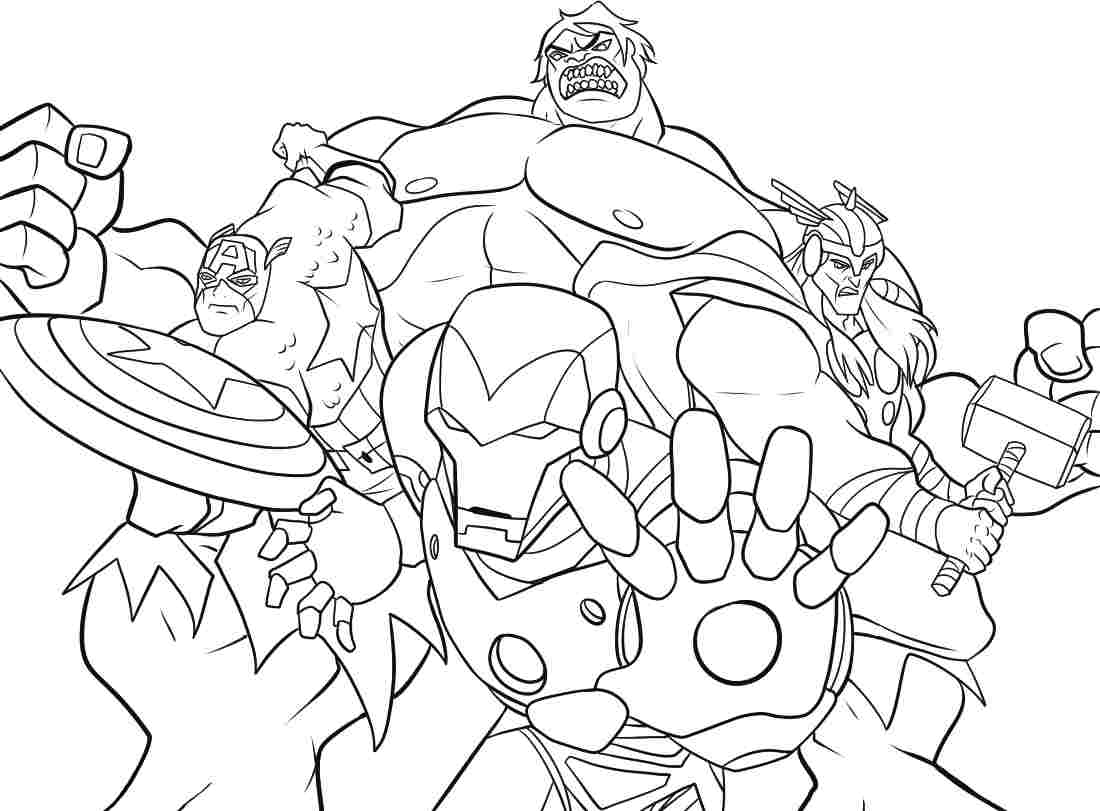 Avenger Coloring Pages For Kids 01