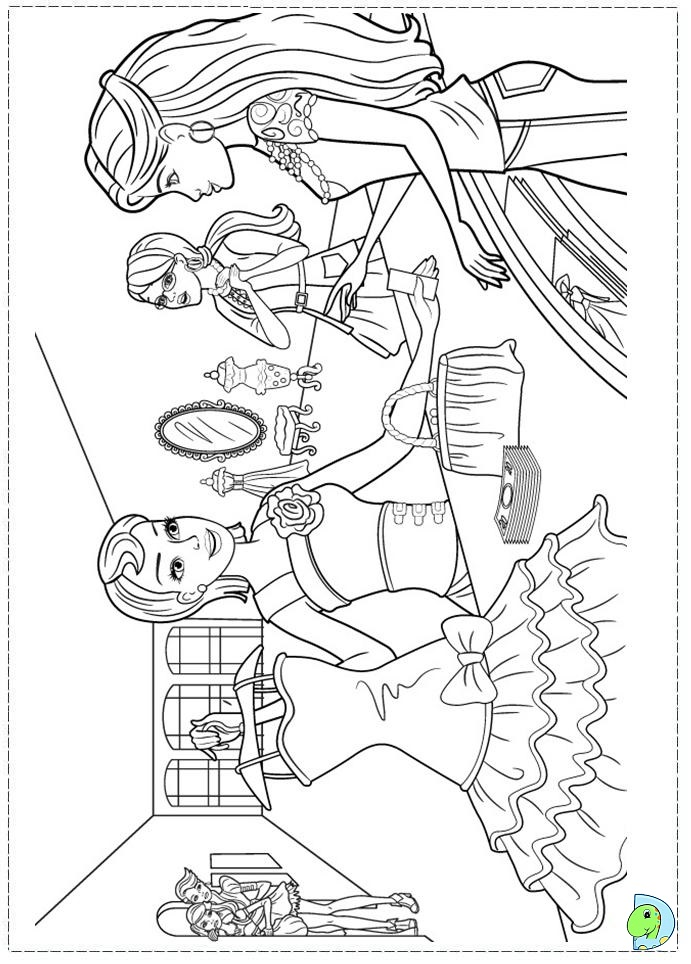 barbie coloring pages fashion fairytale 01