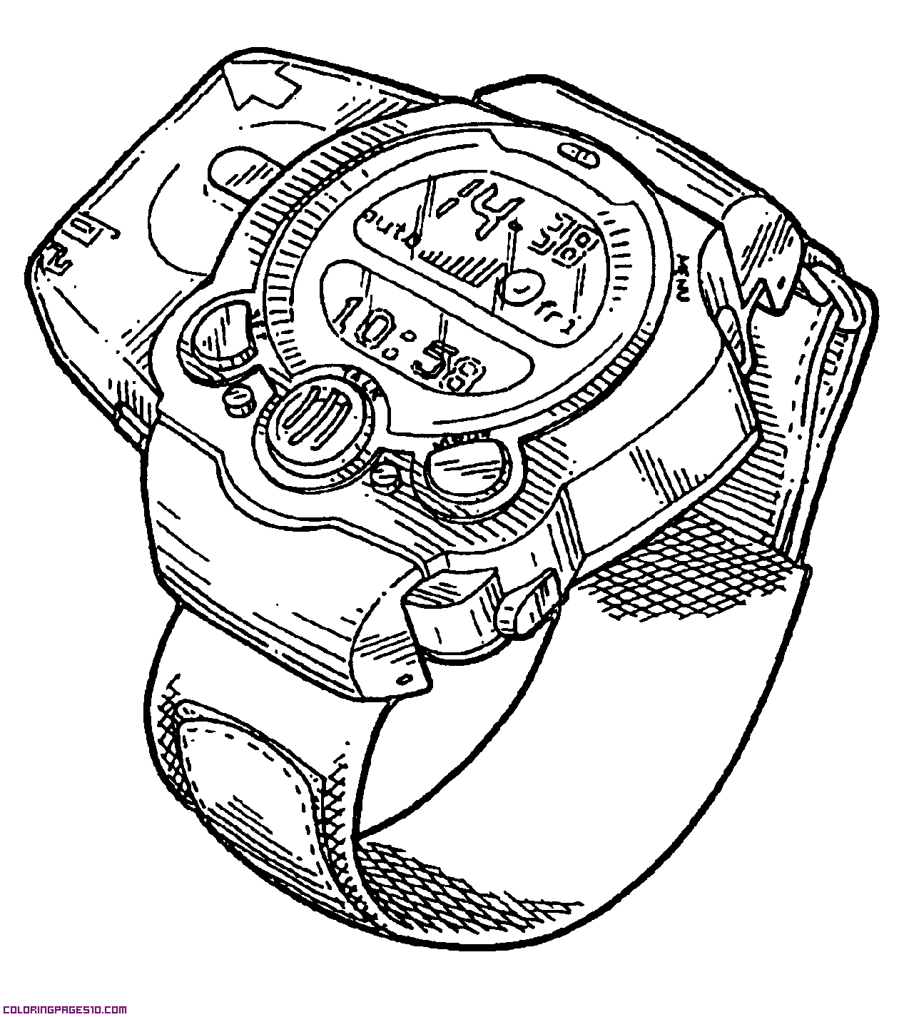 Ben 10 And Watch Coloring Page 01
