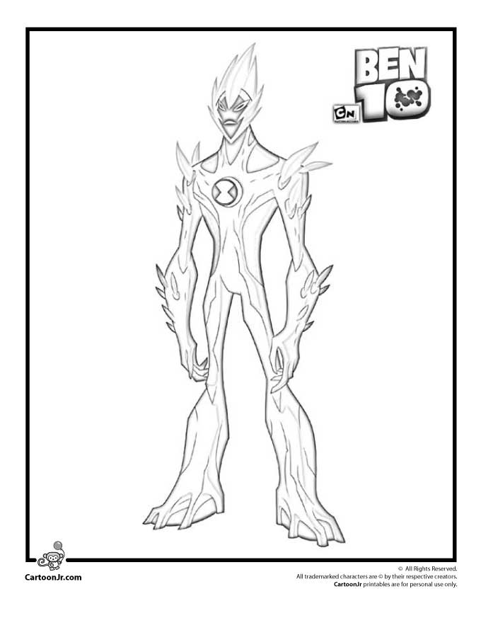 ben 10 coloring pages swampfire 01
