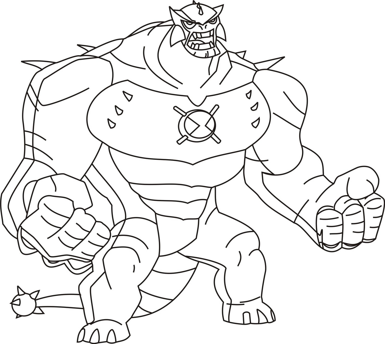 Ben 10 Coloring Pages Ultimate Aliens 01