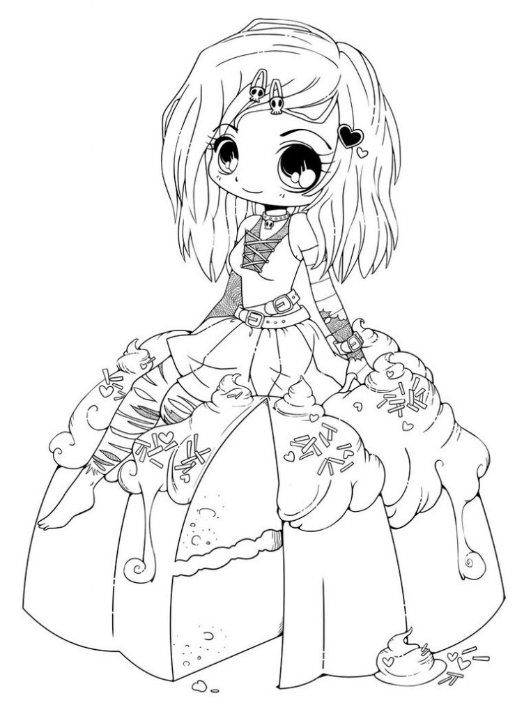Chibi Coloring Pages Printable 01