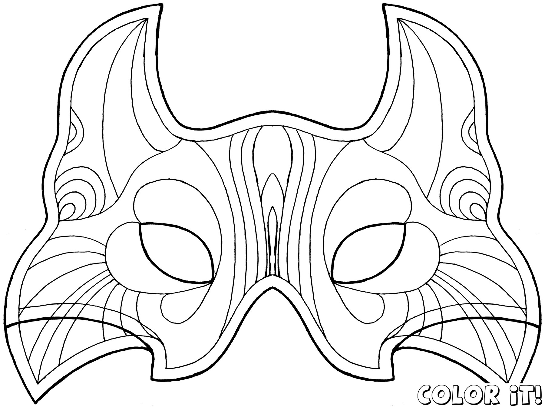 coloring mask carnival Only Coloring