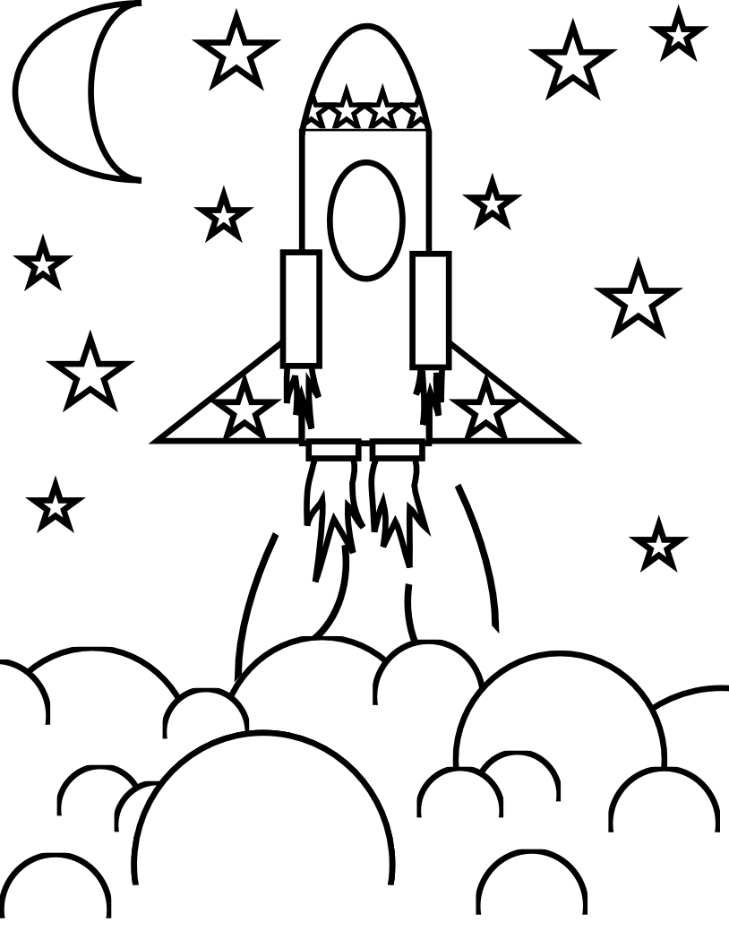 coloring page rocket free