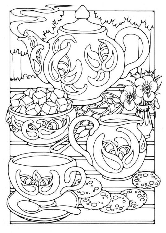 Coloring Page Teatime 01