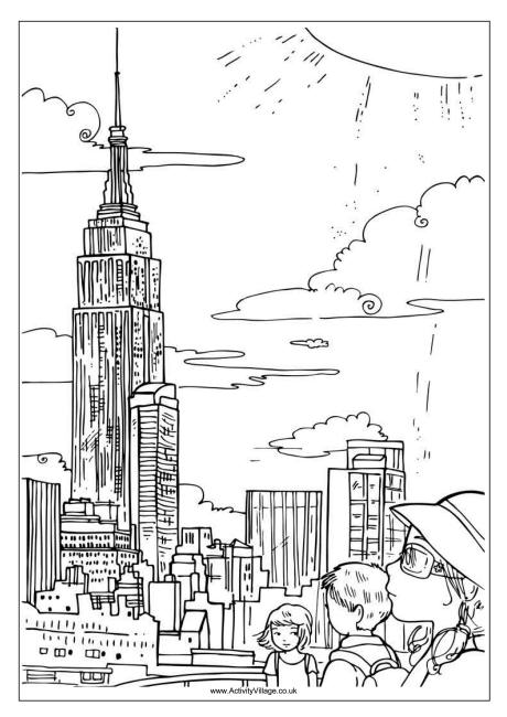 coloring pages new york city