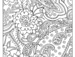 coloring pages paisley pattern