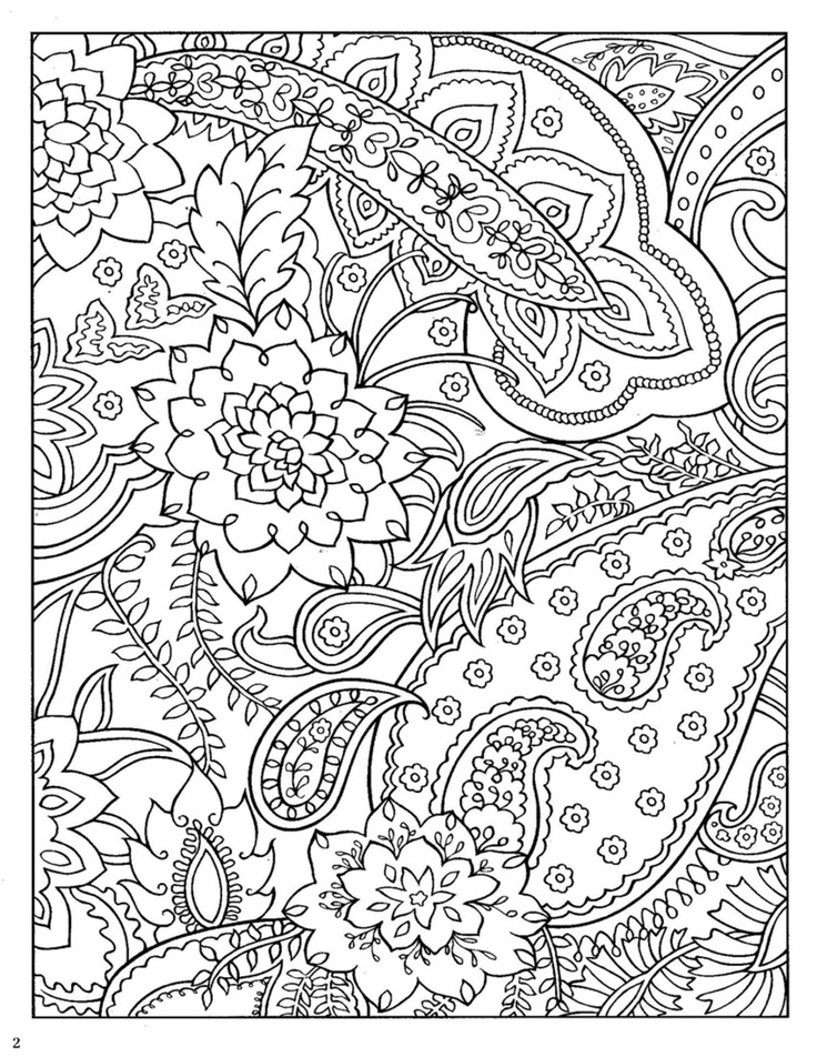 coloring pages paisley pattern 01