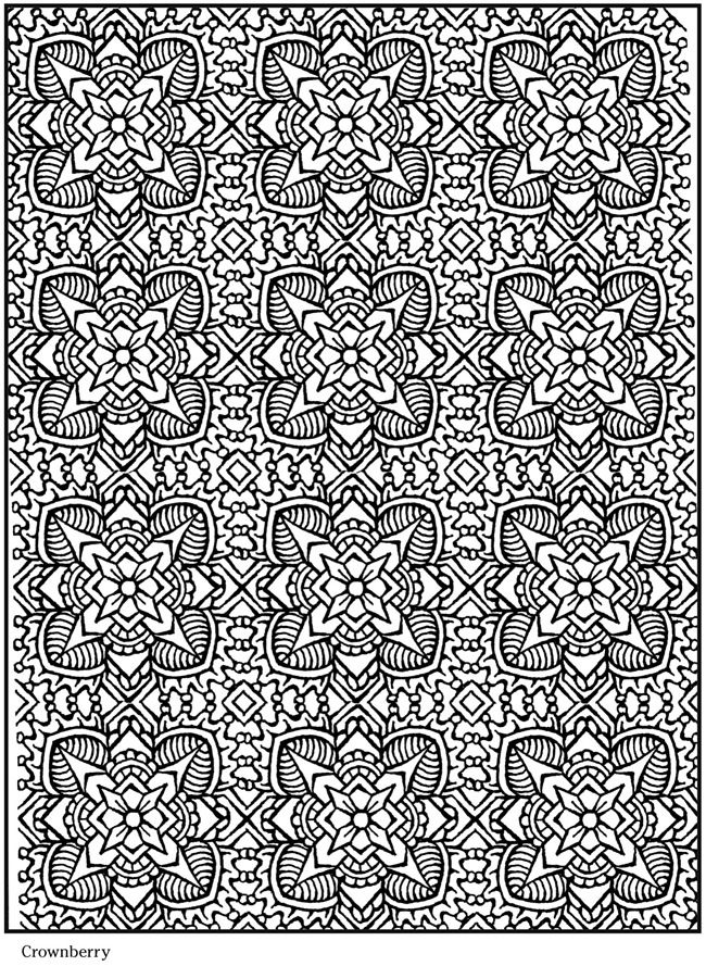 Creative Haven Lotus Designs Coloring Book 01
