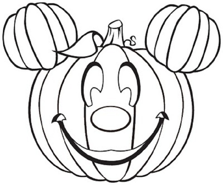 Cute Halloween Pumpkin Coloring Pages 01