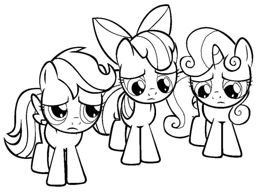 Cutie Mark Crusaders Coloring Pages 01