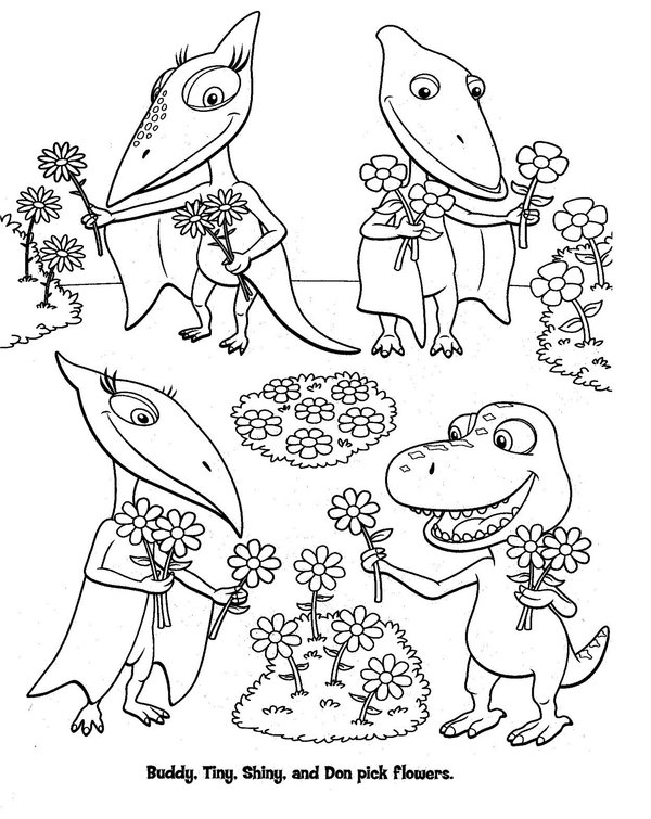 dinosaur train coloring pages 01