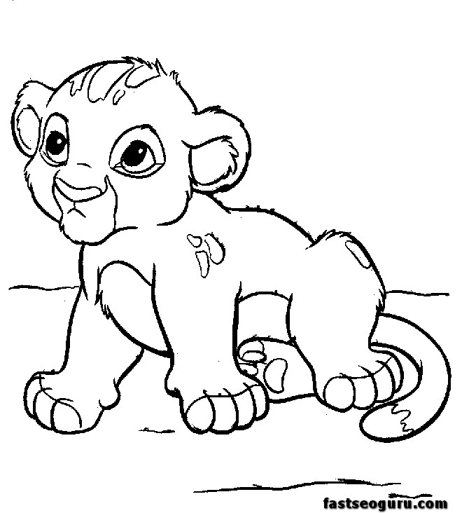 Disney Cartoon Character Coloring Pages