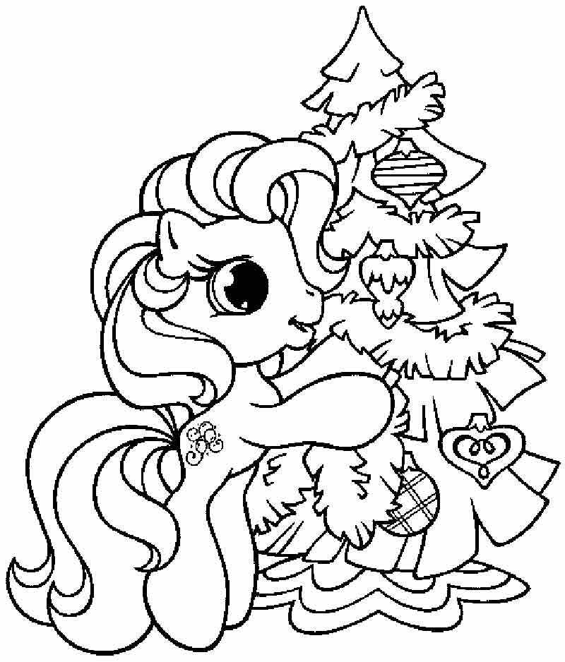 Disney Christmas Tree Coloring Page 01
