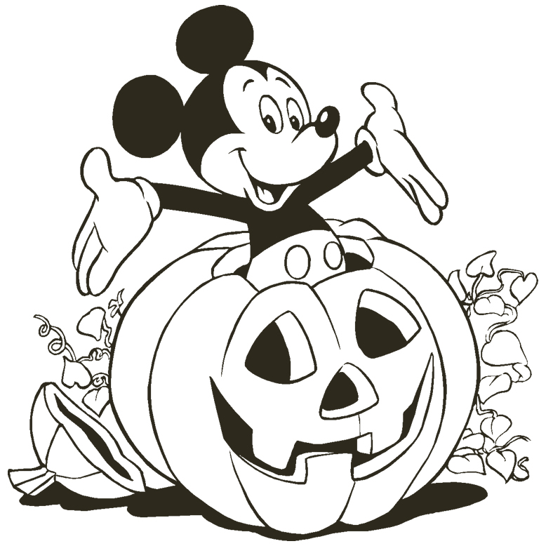 disney halloween coloring pages 01
