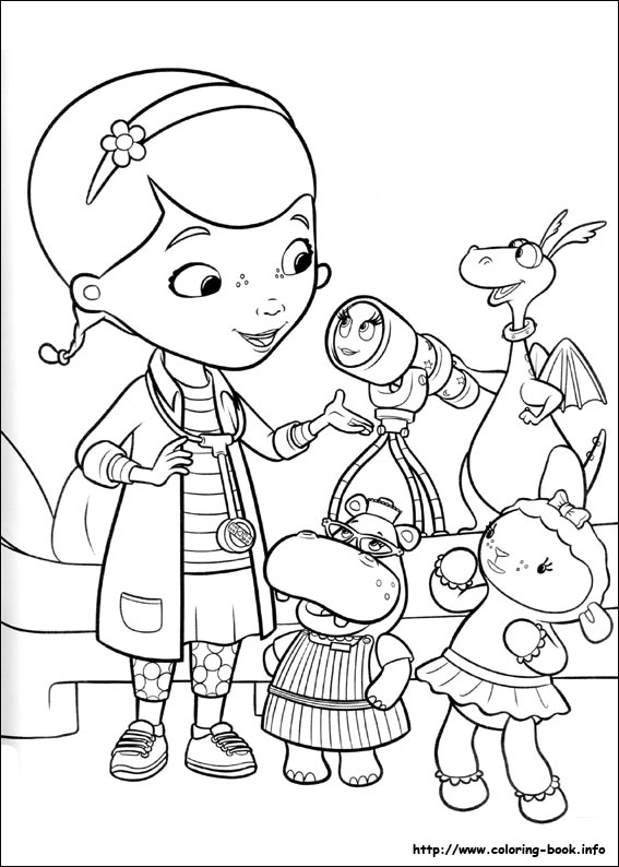 Doc Mcstuffins Coloring Pages 01