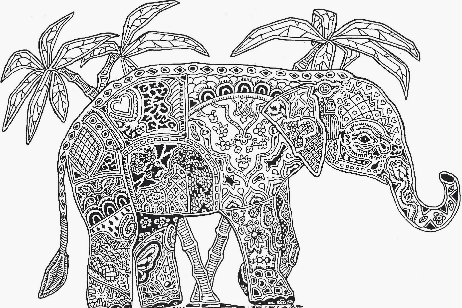free coloring pages of elephant - photo#27