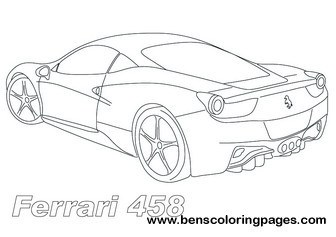 coloring pages ferrari - ferrari coloring pages only coloring pages