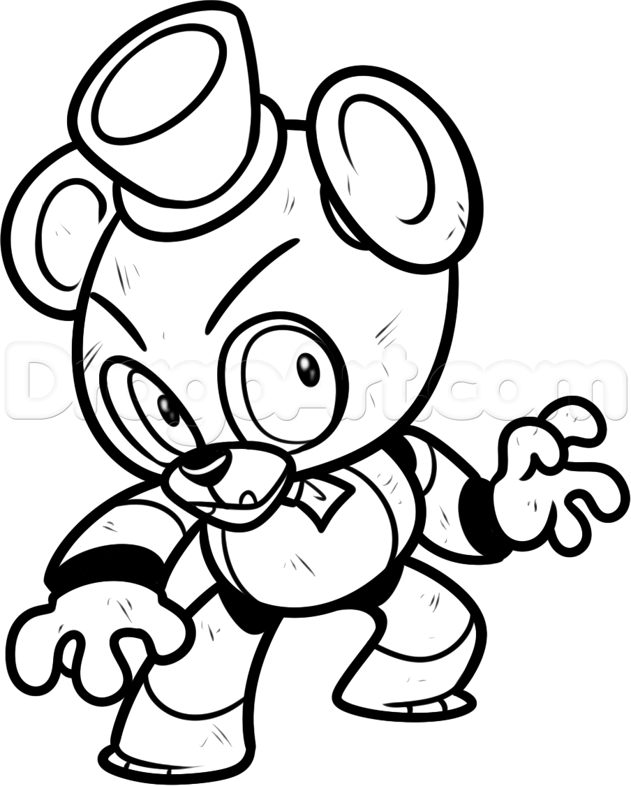Five nights at freddys coloring pages pinterest five for Freddy coloring pages