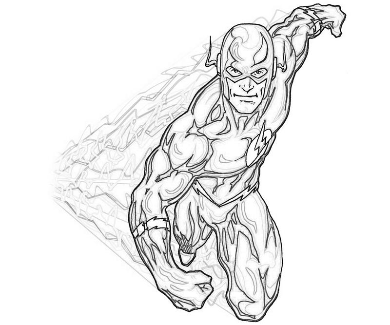 flash coloring pages 01