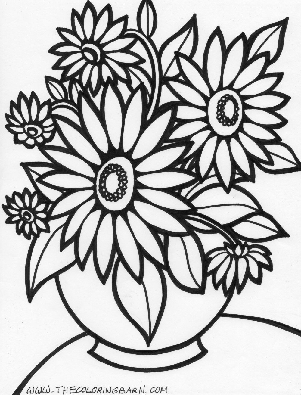 flower coloring pages 17 Only